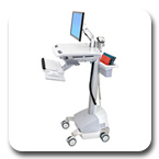 Ergotron SV42-6201-1 StyleView EMR LCD Monitor Arm SLA Powered Ergonomic Healthcare Cart