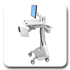 Ergotron SV42-6202-1 StyleView EMR LCD Monitor Arm Innovative Ergonomic Healthcare Cart LiFe Powered