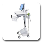 Ergotron SV42-6301-1 StyleView EMR LCD Pivot SLA Powered Ergonomic Healthcare Cart