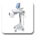 Ergotron SV42-6302-1 StyleView EMR LCD Pivot Innovative Ergonomic Healthcare Cart LiFe Powered