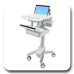 Ergotron SV41-3110-0 StyleView Healthcare Laptop Cart, non-powered, 1 Drawer