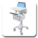 Ergotron SV41-3160-0 StyleView Healthcare Laptop Cart, non-powered, 6 Drawers