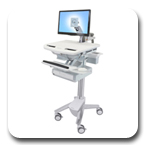 Ergotron SV41-3210-0 StyleView Healthcare Cart with LCD Arm, non-powered, 1 Drawer