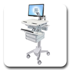 Ergotron SV41-3220-0 StyleView LCD Monitor Arm Cart, non-powered, 2 Drawers