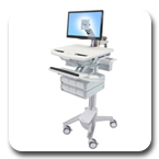 Ergotron SV41-3260-0 StyleView Cart with LCD Monitor Arm, non-powered, 6 Drawers
