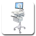 Ergotron SV41-3340-0 StyleView Cart with LED Pivot, non-powered, 4 Drawers