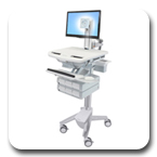 Ergotron SV41-3360-0 StyleView Cart with LED Pivot, non-powered, 6 Drawers