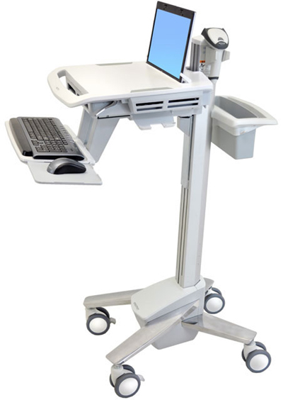 Ergotron SV41-41001 StyleView EMR Notebook Computer Cart for Mobile Medical Applications