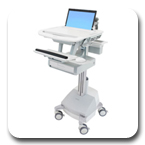 Ergotron SV42-3111-1 StyleView Medical Laptop Cart, SLA Powered, 1 Drawer
