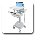 Ergotron SV42-3112-1 StyleView Notebook Cart, LiFe Powered, 1 Drawer
