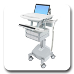 Ergotron SV42-3122-1 StyleView Healthcare Notebook Cart, LiFe Powered, 2 Drawers