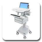 Ergotron SV42-3141-1 StyleView Medical Laptop Cart, SLA Powered, 4 Drawers
