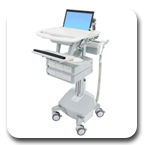 Ergotron SV42-3142-1 StyleView Medical Notebook Cart, LiFe Powered, 4 Drawers