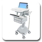 Ergotron SV42-3162-1 StyleView Healthcare Laptop Cart, LiFe Powered, 6 Drawers