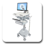 Ergotron SV42-3212-1 StyleView Cart with LCD Arm, LiFe Powered, 1 Drawer