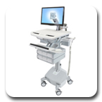 Ergotron SV42-3262-1 StyleView Healthcare Cart with LCD Arm, LiFe Powered, 6 Drawe