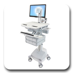 Ergotron SV42-3361-1 StyleView Healthcare Cart with LED Pivot, SLA Powered, 6 Drawers