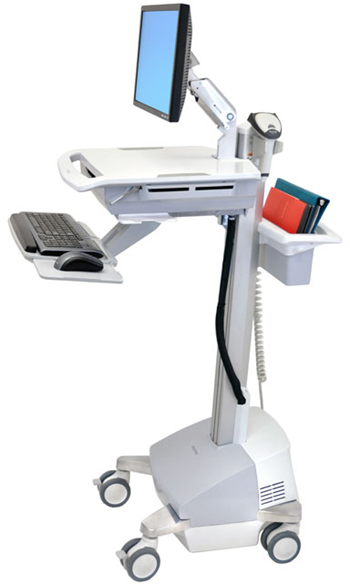 Ergotron SV42-42221 StyleView EMR Powered Cart with LCD Monitor Arm