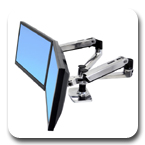 Ergotron 45-245-026 LX Dual Desk Mount LCD Monitor Arm