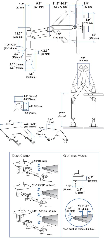 Ergotron 45 248 026 Lx Dual Stacking Arm