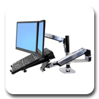 Ergotron 45-248-026 LX Dual Stacking Desk Mount Arm