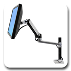 "Ergotron 45-295-026 LX Desk Mount LCD Monitor Arm with Tall Pole (13.25"") Polished Aluminum"