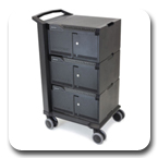 Ergotron 24-329-085 Tablet Management 48 Device Capacity Cart, Three Modules with Individual Status Indicators