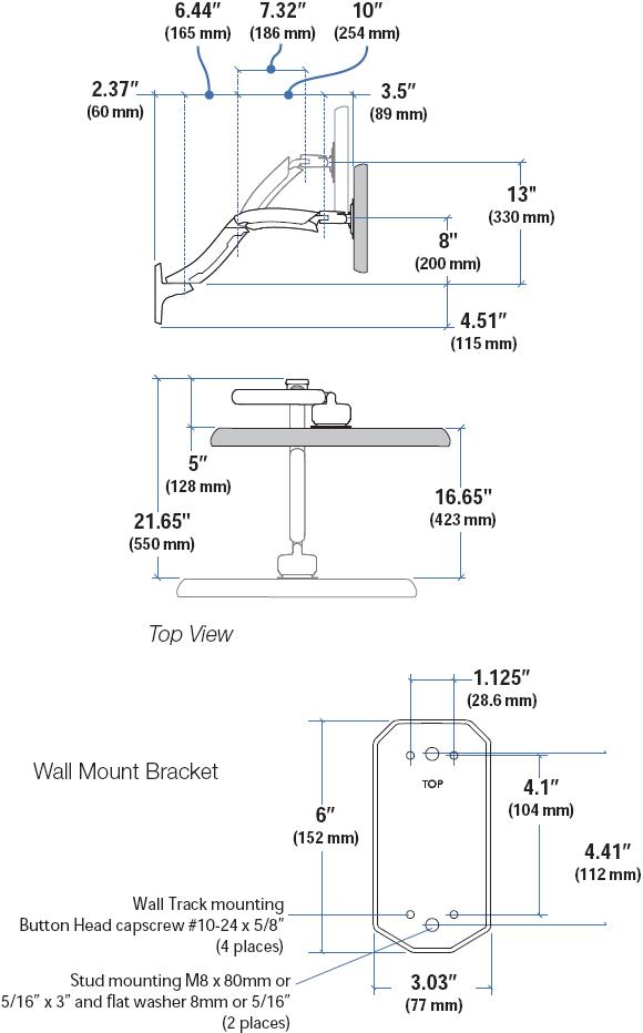 Wall Mount Monitor Arm Ergotron 45 228 026 Mx