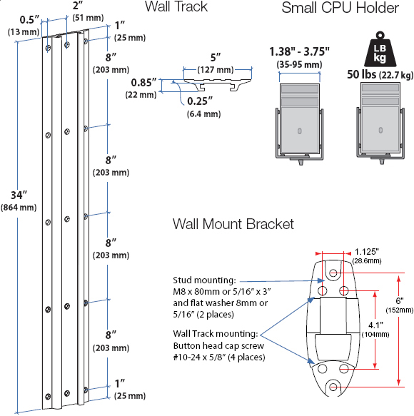 Ergotron 45 253 026 Lx Wall Mount System