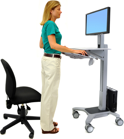 Ergotron 24-197-055 WorkFit C-Mod Mid-Sized LCD Display Sit-Stand Workstation