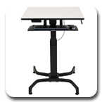 Ergotron 24-280-085 WorkFit-PD Height Adjustable Sit-Stand Desk