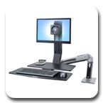 Ergotron 24-317-026 WorkFit-A Single LD Monitor Sit-Stand Workstation with Worksurface