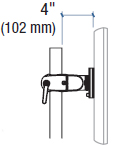 Technical Drawing for Ergotron DS100 Pole Clamp Single Pivot