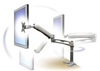 Ergotron 45-179-194 LX Desk Mount LCD Arm Silver motion range picture