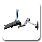 Ergotron LX Notebook Arm Wall Mount Laptop Arm