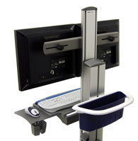 Ergotron SV22-22009 StyleView Dual Display Cart, Powered