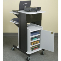 Balt 89759 Presentation Cart, Laptop Cart, Audio Visual Cart (gray and black)