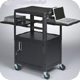 Balt 89875 Dual Adjustable Laptop Utility Cart with Locking Cabinet