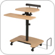 Balt 46572 Hi-Hi-Lo Pneumatic Height Adjustable Stand Up Workstation HiHiLo
