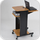 Balt 27519 Presentation Cart, Laptop Stand, Audio Visual Cart (Teak or Black)