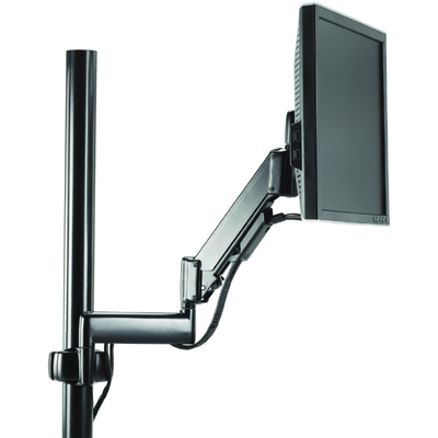 Chief KPG110B Height Adjustable Dual Arm Pole Mount, One Monitor