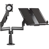 Chief KGL220 Height Adjustable LCD/Laptop Dual Arm Desk Mount
