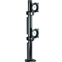 Chief KTC230B or KTC230S Flat Panel Dual Vertical Desk Clamp up to 35 lbs LCD Mount