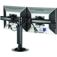 Chief KTG220B or KTG220S Grommet Desk Mount Flat Panel Dual Horizontal up to 35 lbs LCD LED Arm