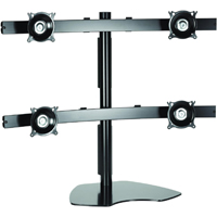 Chief KTP445B or KTP445S Flat Panel Table Stand Quad Widescreen up to 20 lbs LCD LED Monitor Mounts