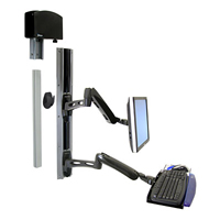 Ergotron Lx Wall Mount System With Small Cpu Holder Black