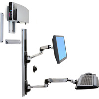Ergotron 45-247-026 LX Wall Mount System with Medium CPU Holder