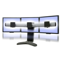 Ergotron 33-296-195 LX Triple or Widescreen Dual Display Lift Stand
