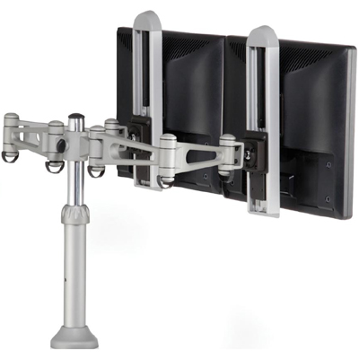 Humanscale m7 dual lcd monitor arm for desk mount or wall for Build your own wall mounted desk