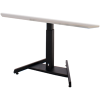 ISE ST-RES-5-3036-MG-SE (Top) and SB-E5-1-LITE-0024-BK (Base) Electric Light Weight Desk